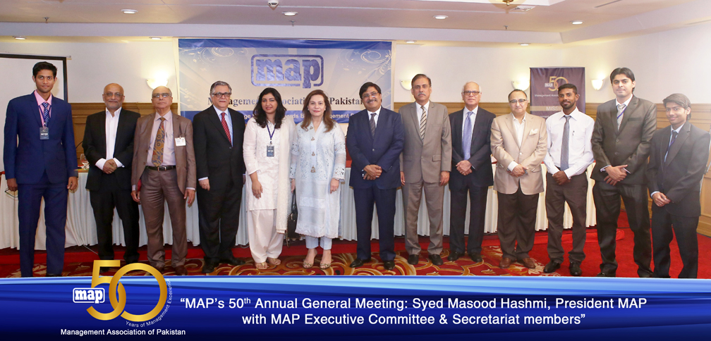 Syed Masood Hasmi President MAP with MAP Executive Committee and Secretariat members copy